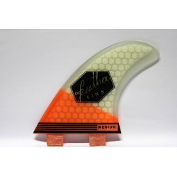 FEATHER FINS Ultra light Blanc / Orange Thruster FCS