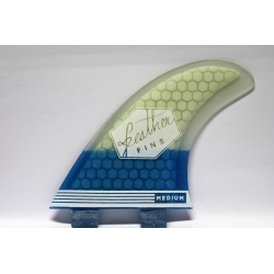 FEATHER FINS Ultra light Blanc / Bleu Thruster FCS