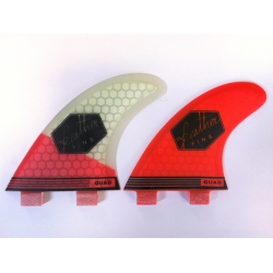 FEATHER FINS Ultra light Rouge Quad FCS