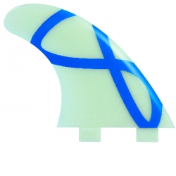 FCS M5 Natural Glass Flex Tri Fin Set (FCS)